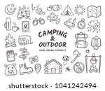 Hand Drawn Camping And Hiking...