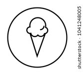 ice cream icon   Shutterstock .eps vector #1041248005