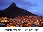 lion head of cape town city at... | Shutterstock . vector #104124809