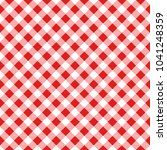 red and white gingham... | Shutterstock .eps vector #1041248359