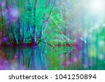 romantic riverside nature wall...   Shutterstock . vector #1041250894