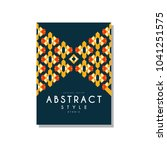 abstrat style ethnic design... | Shutterstock .eps vector #1041251575