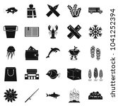 fish food icons set. simple set ... | Shutterstock . vector #1041252394