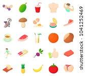 body check icons set. cartoon... | Shutterstock . vector #1041252469