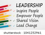 Leadership Written On A White...