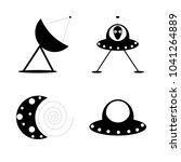 icon cosmos with alien  planet  ...   Shutterstock .eps vector #1041264889