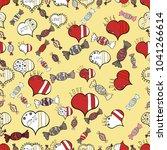 seamless hearts pattern.... | Shutterstock .eps vector #1041266614