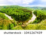 green forest river top view... | Shutterstock . vector #1041267439