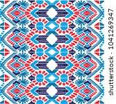 ikat geometric folklore...   Shutterstock .eps vector #1041269347