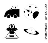 icon cosmos with antenna ...   Shutterstock .eps vector #1041270655