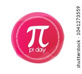 pi day  label or sign red circle | Shutterstock .eps vector #1041273559