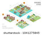 set of isolated isometric... | Shutterstock .eps vector #1041275845