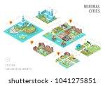 set of isolated isometric... | Shutterstock .eps vector #1041275851