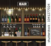 cafe restaurant pub bar... | Shutterstock .eps vector #1041277024