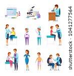 vaccination immunity cartoon...   Shutterstock .eps vector #1041277564