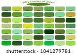 50 shades of green color... | Shutterstock .eps vector #1041279781