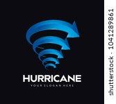 tornado cyclone hurricane arrow ... | Shutterstock .eps vector #1041289861
