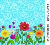 horizontal seamless background  ... | Shutterstock . vector #1041291955