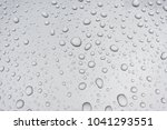 water drops on metal surface | Shutterstock . vector #1041293551