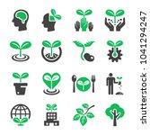 plant icon set | Shutterstock .eps vector #1041294247