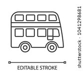 double decker bus linear icon.... | Shutterstock .eps vector #1041298681