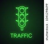 traffic lights neon light icon. ... | Shutterstock .eps vector #1041298699