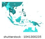 map of southeast asia. vector... | Shutterstock .eps vector #1041300235