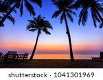 morning sunrise full color... | Shutterstock . vector #1041301969