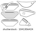 waist bag vector illustration... | Shutterstock .eps vector #1041306424