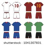 football soccer uniform vector... | Shutterstock .eps vector #1041307831