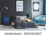 star stickers on dark wall... | Shutterstock . vector #1041312667