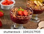 acai berry on glass cup | Shutterstock . vector #1041317935
