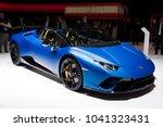 geneva  switzerland   march 6 ... | Shutterstock . vector #1041323431
