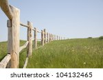 Wooden Fence On Nice Green...