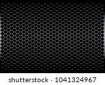 dark gray hexagon metal mesh... | Shutterstock .eps vector #1041324967