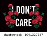 typography slogan with roses... | Shutterstock .eps vector #1041327367