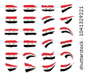 syria flag  vector illustration | Shutterstock .eps vector #1041329221