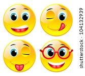 smiling funny yellow four balls....