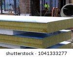 sandwich panels on the... | Shutterstock . vector #1041333277