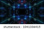 abstract futuristic sci fi warp ... | Shutterstock . vector #1041336415