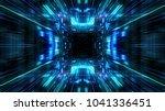 abstract futuristic sci fi warp ... | Shutterstock . vector #1041336451