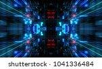 abstract futuristic sci fi warp ... | Shutterstock . vector #1041336484