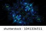 abstract futuristic sci fi warp ... | Shutterstock . vector #1041336511