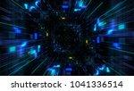 abstract futuristic sci fi warp ...   Shutterstock . vector #1041336514