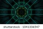 abstract futuristic sci fi warp ...   Shutterstock . vector #1041336547