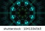 abstract futuristic sci fi warp ... | Shutterstock . vector #1041336565