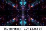 abstract futuristic sci fi warp ... | Shutterstock . vector #1041336589