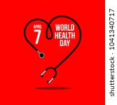 world health day vector... | Shutterstock .eps vector #1041340717