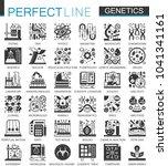 biochemistry genetics black... | Shutterstock .eps vector #1041341161