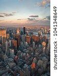 chrysler building and midtown... | Shutterstock . vector #1041348649
